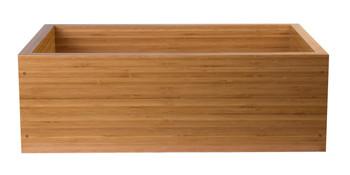 ALFI brand AB3021 30' Single Bowl Bamboo Farmhouse Apron Front Kitchen Sink