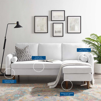 Revive Upholstered Right or Left Sectional Sofa EEI-3867-WHI White