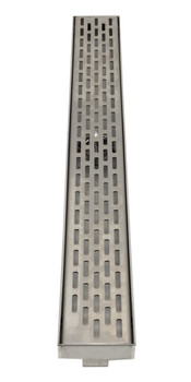 "ALFI brand ABLD32C-BSS 32"" Modern Stainless Steel Linear Shower Drain with Groove Holes"