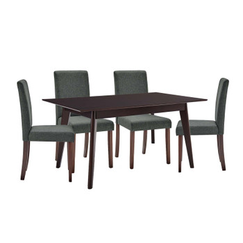 Prosper 5 Piece Upholstered Fabric Dining Set EEI-4285-CAP-GRY Cappuccino Gray