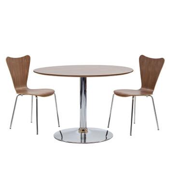 Ernie Dining Side Chair EEI-537-WAL Walnut