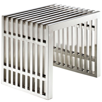 Gridiron Small Stainless Steel Bench EEI-569-SLV Silver