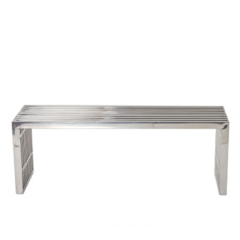 Gridiron Medium Stainless Steel Bench EEI-625-SLV Silver