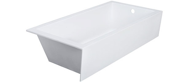 "CLARKE CAT6632SKL-01 Sparta Matte White 66""x32""x19"" Left Hand Drain Skirted Tub"
