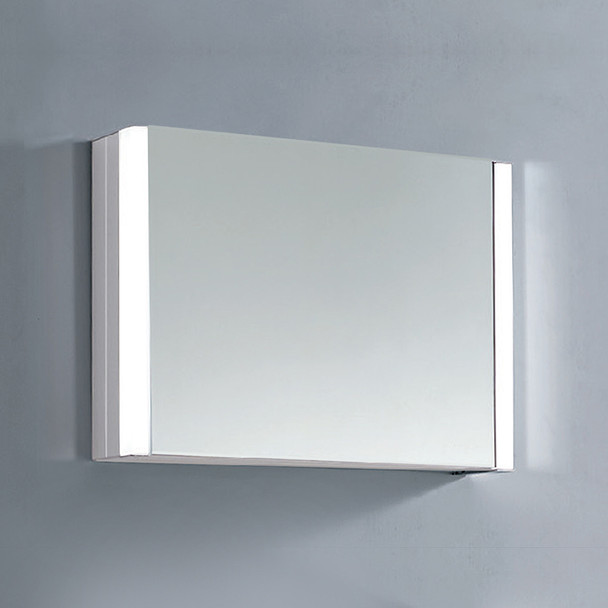 Dawn DLEDLV17 LED Wall Hang Aluminum Mirror/Medicine Cabinet with Matte Aluminum Frame and IR Sensor