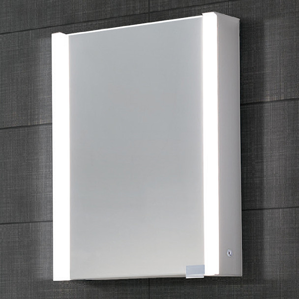 Dawn DLEDLV14 LED Wall Hang Mirror/Medicine Cabinet with Matte Aluminum Frame and Dimmer Switch