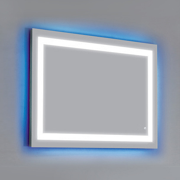 Dawn DLEDL52 LED Back Light Mirror wall hang with matte aluminum frame and Touch Sensor