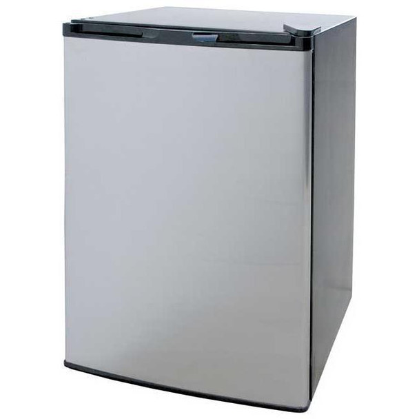 Cal Flame 21-Inch 4.6 Cu. Ft. Compact Refrigerator - Stainless Steel With Black Cabinet - BBQ09849P
