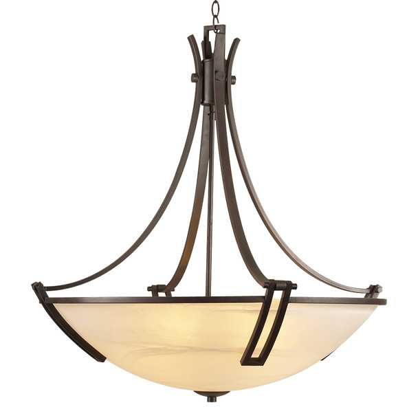 PLC 5 Light Chandelier Highland Collection 14866 ORB