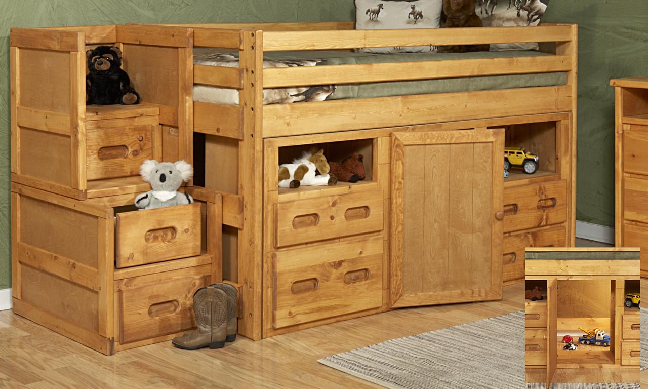 Trendwood Bunkhouse Junior Twin Loft Bed Kids N Cribs