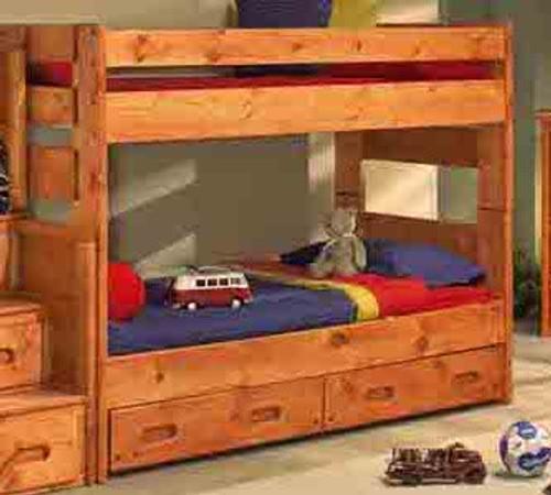 Trendwood Bunkhouse Wrangler Twin Twin Bunk Bed Kids N Cribs