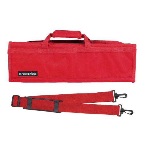 Red 8 Pocket Padded Knife Roll