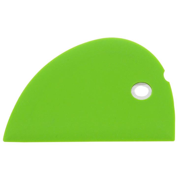 Green Silicone Bowl Scraper