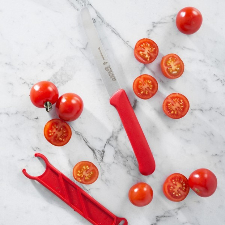 Petite Messer Red Serrated Tomato Knife 4.5 Inch (11.4cm)