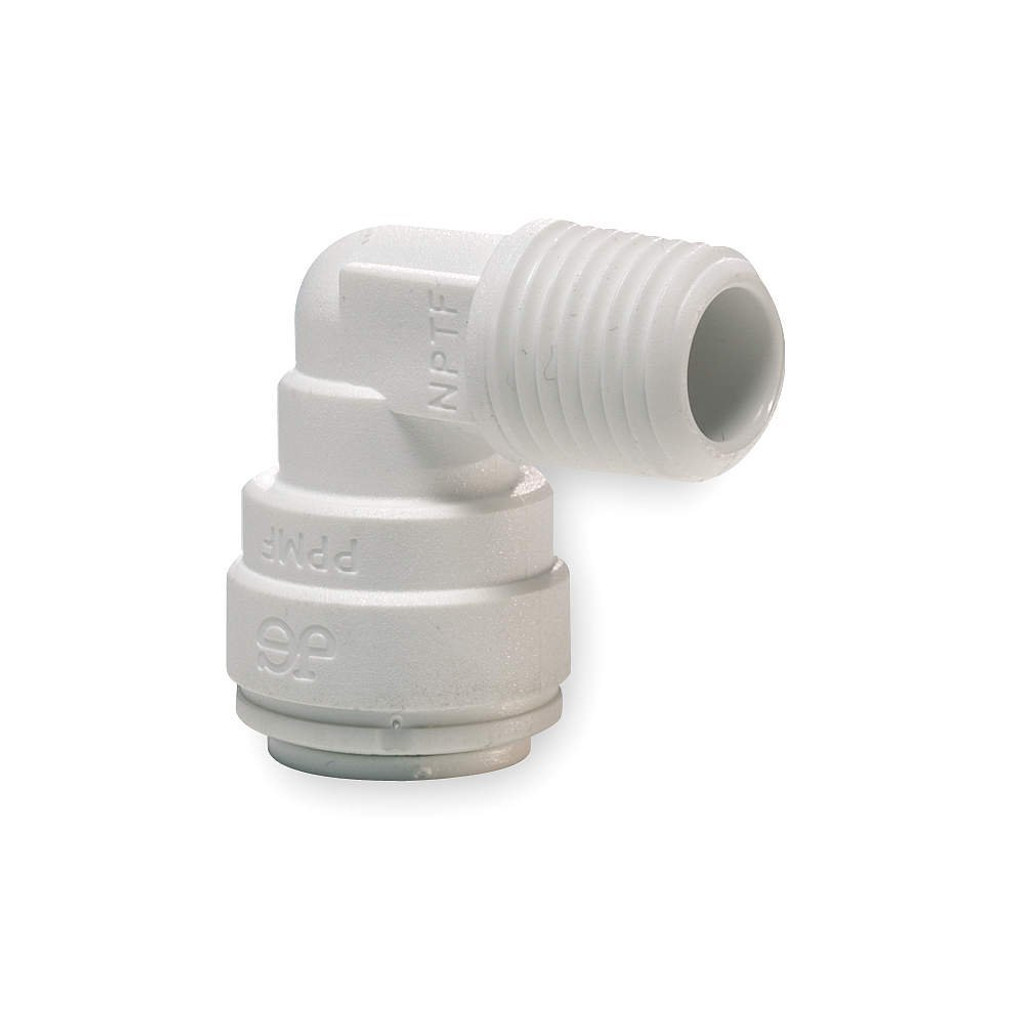 """John Guest 1/4"""" Tube x 1/4"""" Male NPT 90* Elbow Connector (Bag of 10)"""