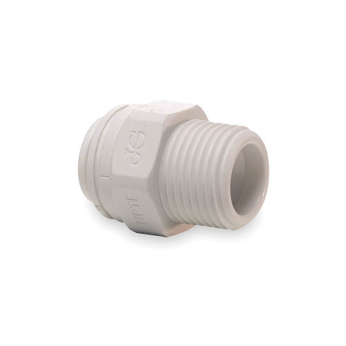 """John Guest 1/2"""" Tube x 1/2"""" Male NPT Straight Connector (Bag Of 10)"""