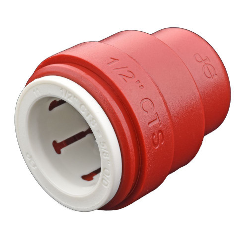 """John Guest CTS 1/2"""" Red Test Cap (Bag of 10)"""