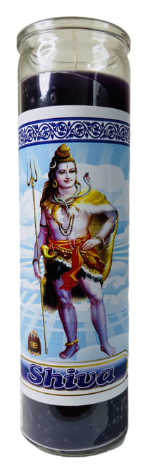 Lord Shiva The Destroyer & Restorer Of Worlds 7 Day Prayer Candle For Healing (Purple)