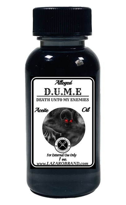 D.U.M.E Death Unto My Enemies DUME Spiritual Fragrance Oil For Revenge