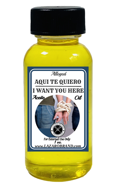 I Want You Here Aqui Te Quiero Spiritual Fragrance Oil