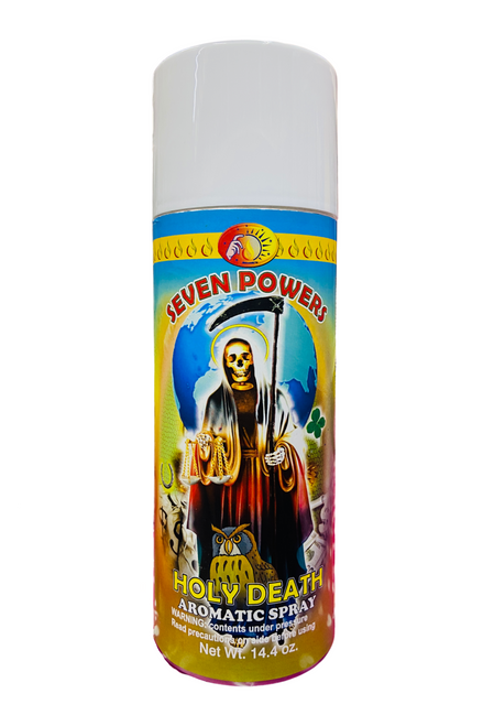 7 Powers Holy Death Santa Muerte Aerosol Spray For Making Positive Changes & Brighter Future (14.4 oz)
