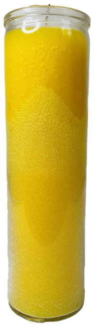 Yellow 7 Day Prayer Candle For Success, Creativity, Energy Increase, Business Ideas, ETC.