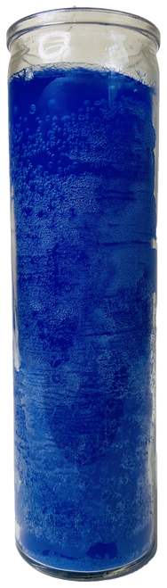 Blue 7 Day Prayer Candle For Peace, Wisdom, Success In Court, Legal Matters, ETC.