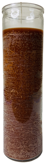 Brown 7 Day Prayer Candle For Balance, Concentration, Increased Telepathic Power, ETC.