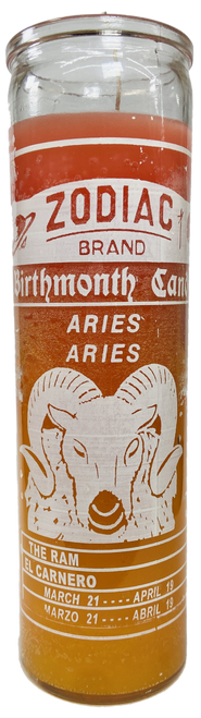 Aries The Ram March 21 to April 20 Astrology Zodiac Sign 7 Day Prayer Candle