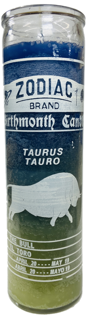 Taurus The Bull April 21 to May 21 Astrology Zodiac Sign 7 Day Prayer Candle
