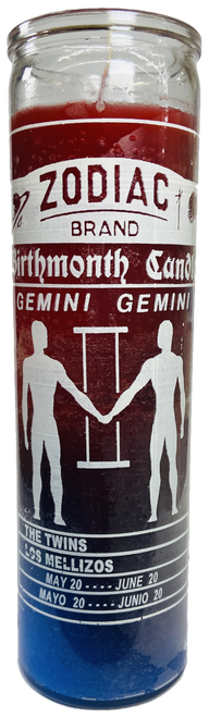 Gemini The Twins May 22 to June 21 Astrology Zodiac Sign 7 Day Prayer Candle