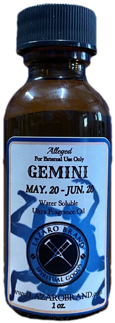 Gemini The Twins May 22 to June 21 Astrology Zodiac Sign Ultra Fragrance Oil
