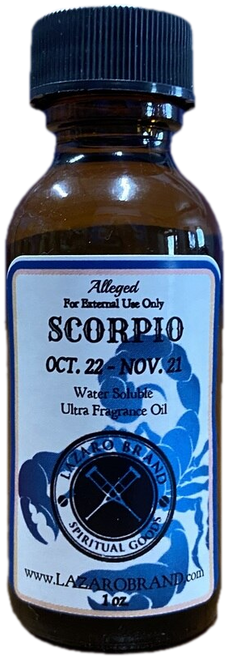 Scorpio The Scorpion October to November 22 Astrology Zodiac Sign Ultra Fragrance Oil