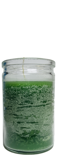 Green 50 Hour Prayer Candle For Good Luck, Money, Health, Wellness, ETC.