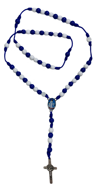 Orisha Yemaya Mother Of All Waters Spiritual Rosary Necklace For Rejuvenation Fertility & Healing (Version 1)