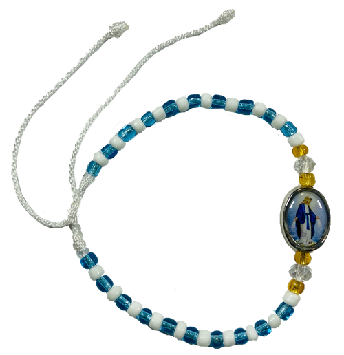 Our Lady Mary of the Miraculous Medal Spiritual Bead Bracelet For Protection & Purification