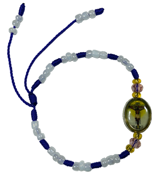 Lord Of Miracles Christ Of Miracles Señor De Los Milagros Spiritual Bead Bracelet For Comfort & Miracles