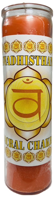 Sacral Chakra 2nd Chakra Svadisthan Chakra 7 Day Prayer Candle To Find Your Inner Peace & Increase Creativity