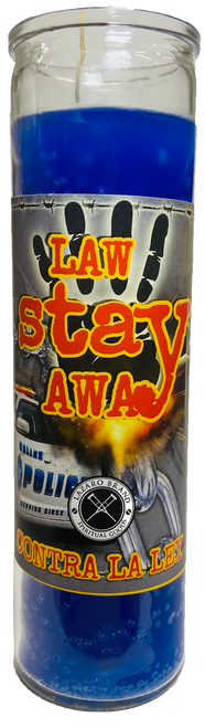Law Stay Away 7 Day Prayer Candle For Victory In Legal Issues, Police Problems, Court Cases, Restraining Orders, ETC.