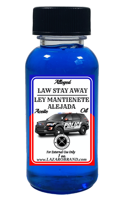 Law Stay Away Ley Mantienete Alejada Spiritual Fragrance Oil For Victory In Legal Issues, Police Problems, Court Cases, Restraining Orders, ETC.