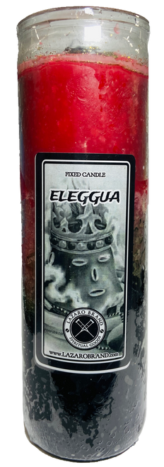 Orisha Eleggua Guardian Of The Crossroads & Destiny Dressed & Blessed 7 Day Prayer Candle For Protection & Spiritual Guidance (Black Red White)