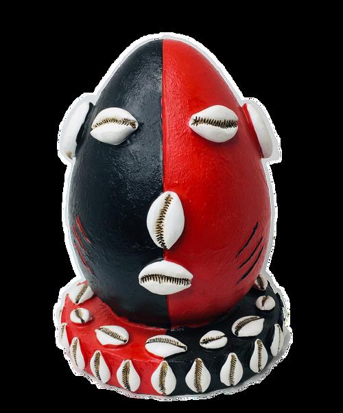 Orisha Eleggua Guardian Of The Crossroads & Destiny Statue For Protection & Spiritual Guidance (Black Red)