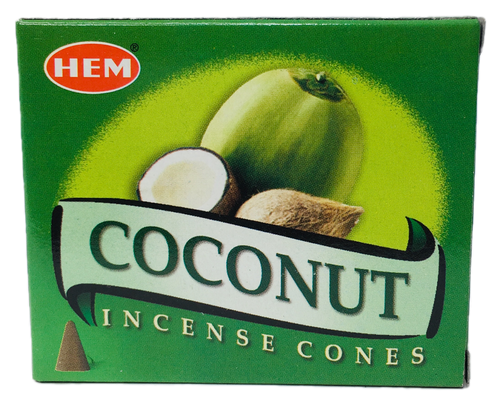 Coconut Incense Cones For Spiritual Cleansing, Good Luck & Prosperity