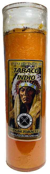 Indian Tobacco Dressed & Blessed 7 Day Prayer Candle For Good Luck, Spiritual Well Being & Connect With Ancestors