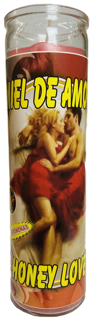 Honey Love Miel De Amor 7 Day Prayer Candle For Romance, Love, Attraction, Soulmates, ETC.