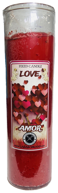 Love Dressed & Blessed 7 Day Prayer Candle For Romance, Love, Attraction, Soulmates, ETC.