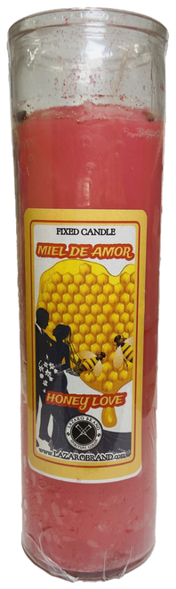 Honey Love Miel De Amor Dressed & Blessed 7 Day Prayer Candle For Romance, Love, Attraction, Soulmates, ETC.