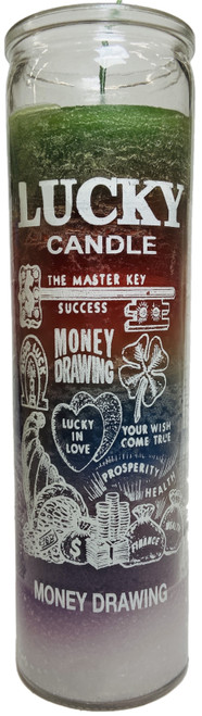 Lucky Candle Money Drawing 7 Day Prayer Candle The Master Key Of Success (7 Colors)