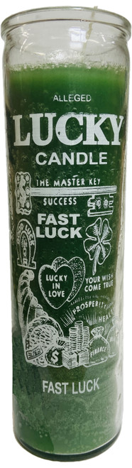Lucky Candle Money Drawing 7 Day Prayer Candle The Master Key Of Success (Green)