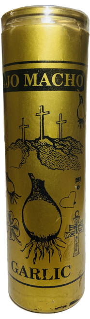 Marvelous Male Garlic Ajo Macho 7 Day Prayer Candle (Gold)